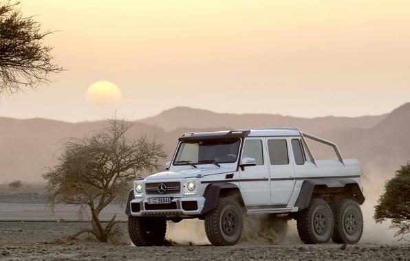 Picture landscape, Mercedes-Benz, SUV, AMG, G63, 6x6