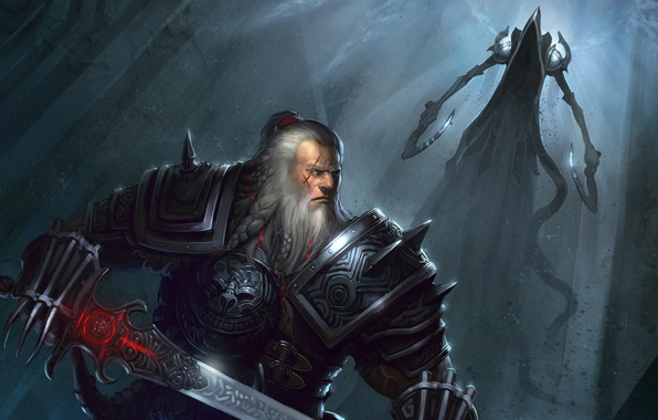 Photo wallpaper Diablo 3, Reaper, Diablo III: Reaper of Souls, Mighty Barbarian, Angel of Death, Malthael, Barbarian, ...