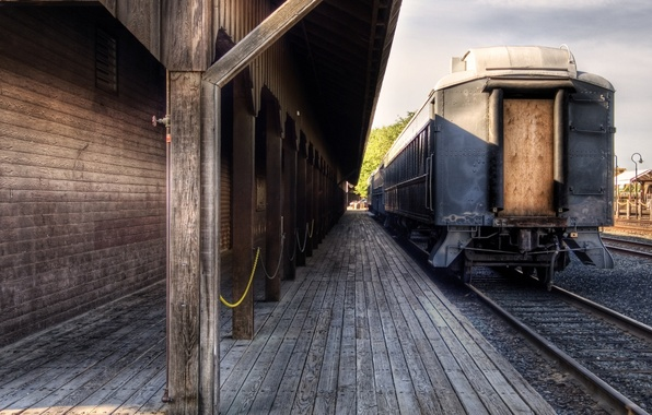 Picture the way, mood, rails, cars, railroad, trains, sleepers, railroad, stations