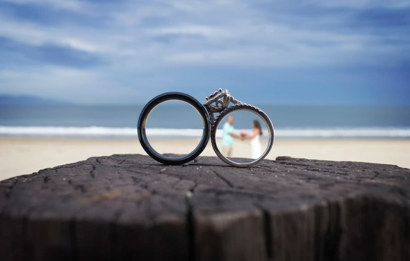 Picture ring, the bride, wedding, the groom