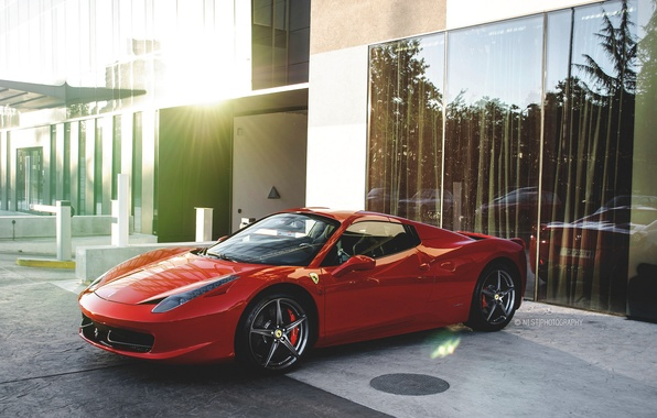 Picture Ferrari, Red, 458, Spyder