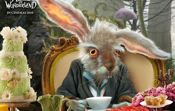 Picture rabbit, Alice in Wonderland, feast