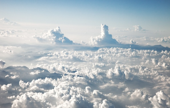 Picture the sky, clouds, heaven