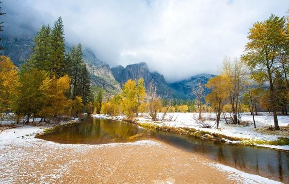 Picture autumn, landscape, mountains, nature, river