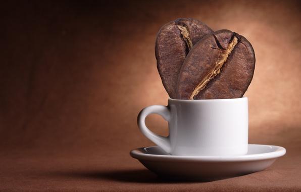 Picture glass, creative, coffee, grain, minimalism, Cup