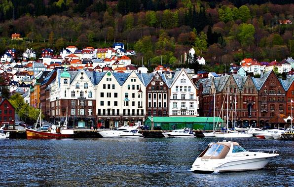 Picture landscape, home, Norway, Bergen, the North sea coast