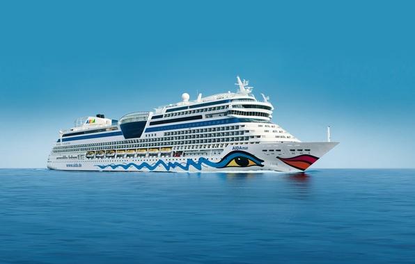 Picture the sky, Sea, White, Board, Day, The ship, liner, Calm, cruise ship, AIDAmar