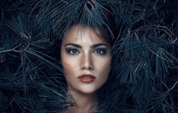 Picture look, makeup, needles, Alessandro Di Cicco, Queen of the woods