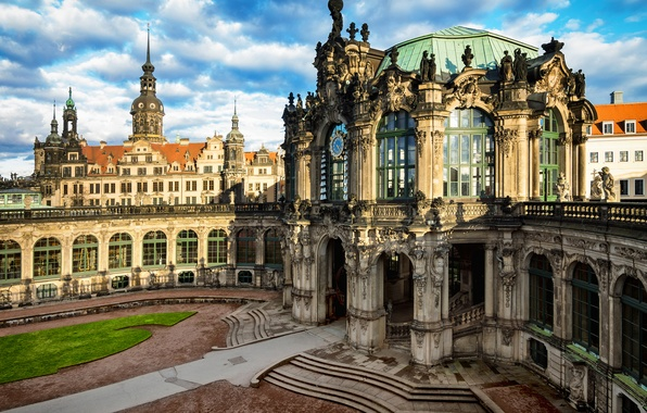 Picture the city, building, Germany, Dresden, architecture, Germany, Dresden, Germany, Altstadt, Old town