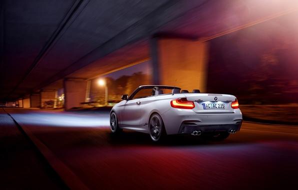 Picture BMW, Germany, White, Cabrio, Rear, M235i, AC-Schnitzer