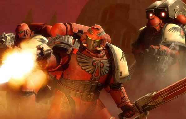 Picture weapons, fire, sword, war, art, armor, Warhammer, machines