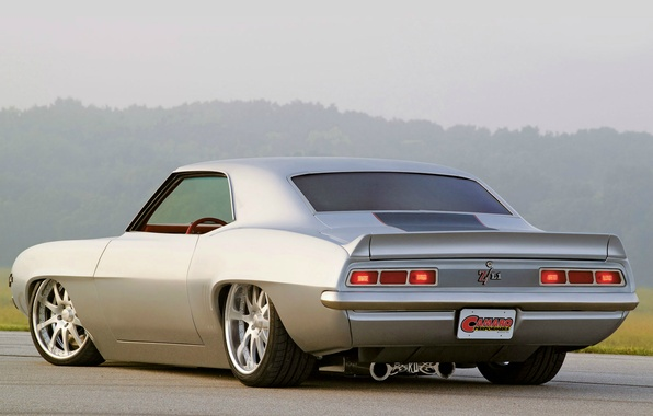 Picture road, Wallpaper, Chevrolet, 1969, Chevrolet, Camaro, legend, muscle car, wallpapers, Z/L1