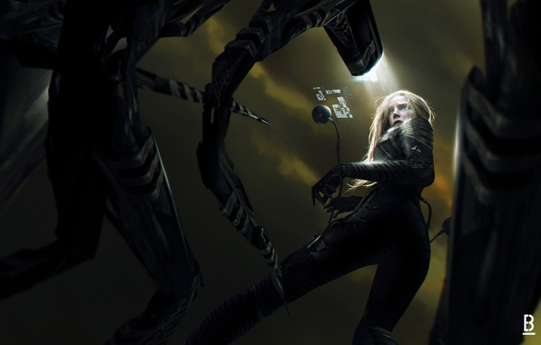 Picture fiction, robots, art, costume, sci-fi, girl. look