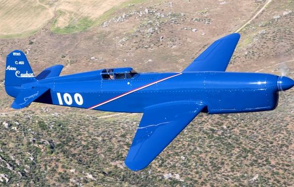 Picture flight, retro, the plane, landscape, pilot
