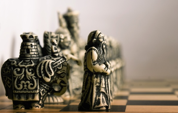 Picture elephant, chess, pawn, Board, figure