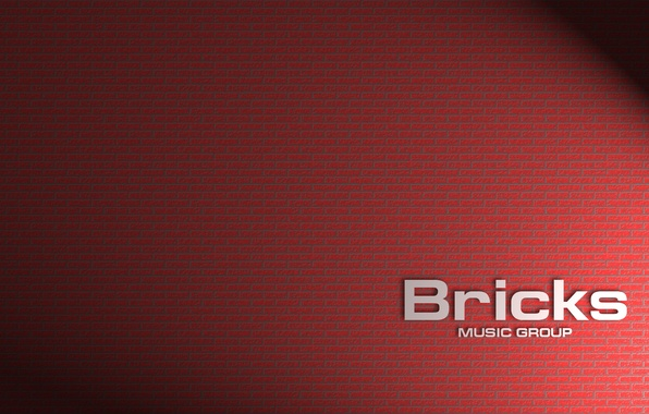 Picture light, the inscription, brick, shadows, bricks, cement, bricks, music group, brick