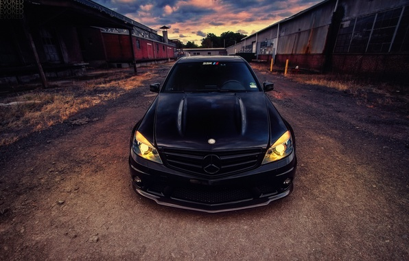 Picture black, mercedes, amg, c63
