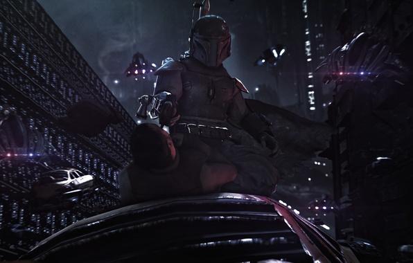 Picture warrior, Star Wars, helmet, mercenary, boba fett, bounty hunter