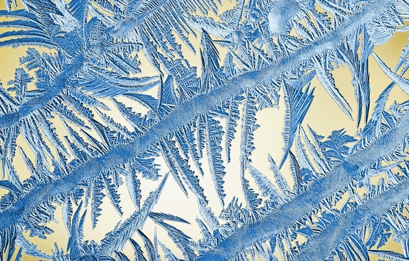 Picture winter, frost, glass, pattern, frost