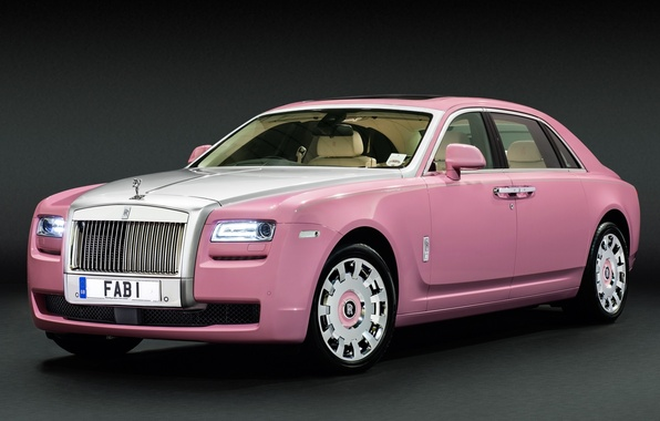 Picture pink, Rolls-Royce, Ghost, the front, Rolls-Royce, GOST, Extended, Wheelbase, FAB1