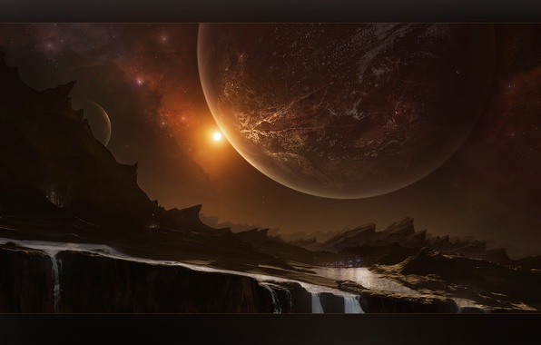 Picture light, cosmos, planets