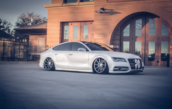 Picture Audi, Tuning, AUDI, Lights, Drives, Vossen
