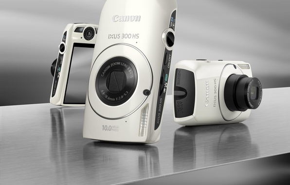 Picture The camera, black and white, Canon, IXUS 300 HS