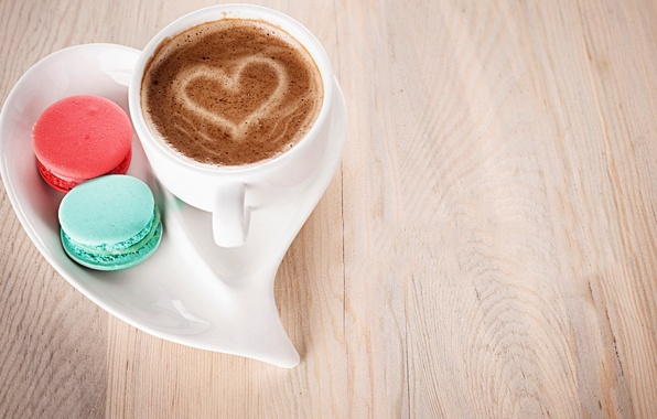 wallpaper love heart coffee milk cookies cup sweets love