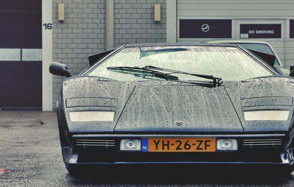 Picture drops, beauty, classic, Lamborghini Countach
