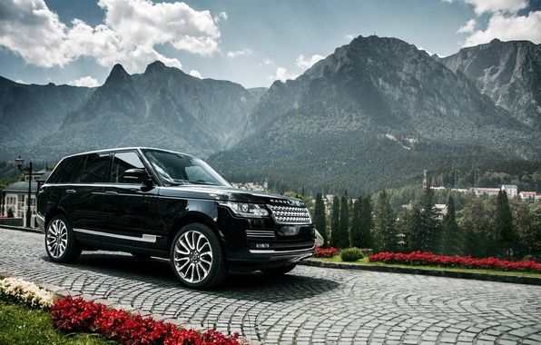 Picture Range Rover, Black, Mountains
