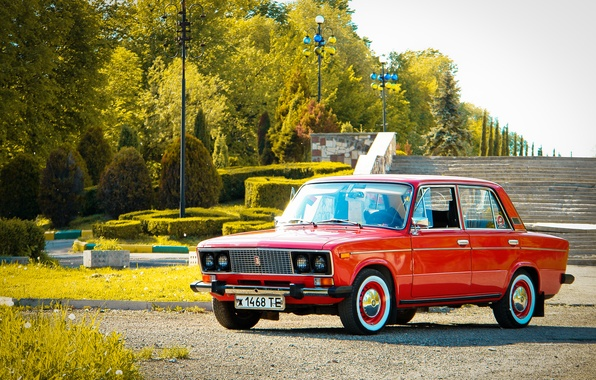 Picture retro, background, Wallpaper, classic, legend, Lada, Lada, vaz, VAZ, 2106, Schoch, Lada