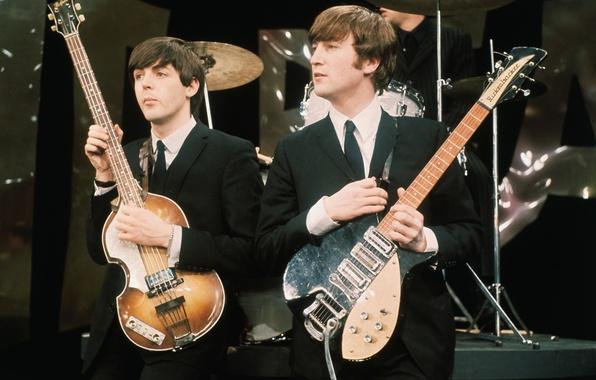Photo wallpaper The Beatles, John Lennon, rock, legends, Beatles, music, John Lennon, Paul McCartney