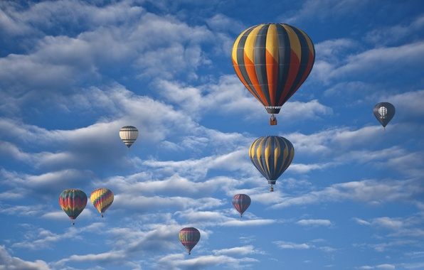 Picture the sky, clouds, flight, balloon, parade
