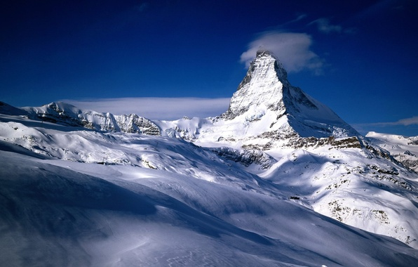 Picture snow, mountains, Switzerland