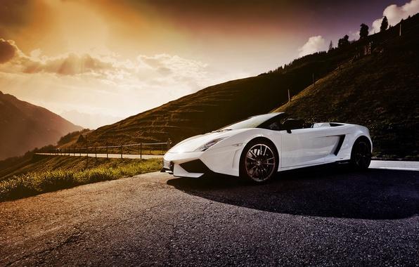 Picture road, Lamborghini, Gallardo, supercar, Spyder, Lamborghini, LP-570-4