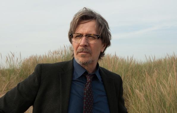 Picture the sky, grass, glasses, costume, tie, jacket, Gary Oldman, Gary Oldman, Criminal, Criminal