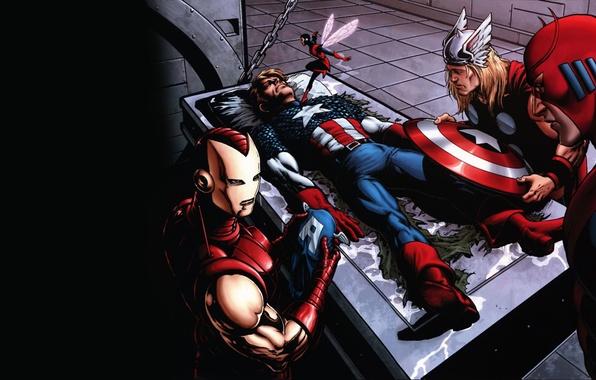 Picture iron man, marvel, comic, Thor, comics, captain america, captain America, thor, iron man