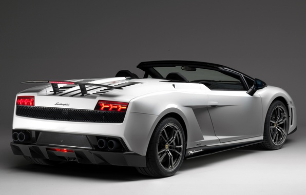 Picture Lamborghini, spoiler, Gallardo, rear view, Spyder, Lamborghini, LP570-4, Performante