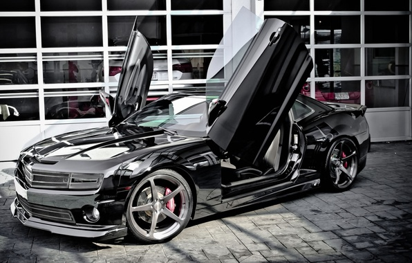 wallpaper camaro lambo doors chevrolet black images for. Black Bedroom Furniture Sets. Home Design Ideas