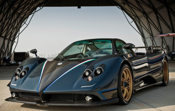 Picture Blue, Machine, Pagani, Tricolor, Car, Carbon, Car, Cars, Carbon, Blue, Tricolor, Zonda, Pagani, Probe