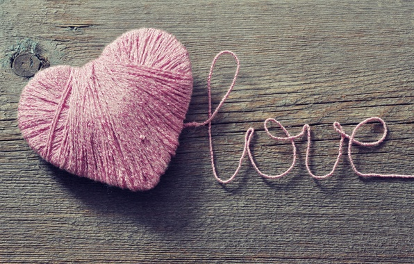 Picture love, tangle, background, pink, Wallpaper, mood, heart, wallpaper, love, thread, widescreen, background, full screen, HD …