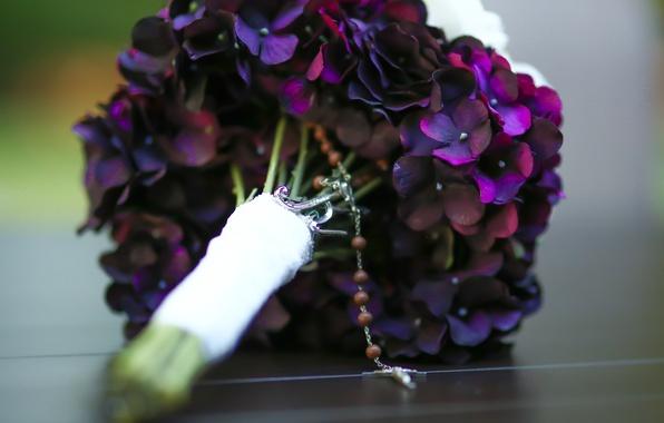 Picture bouquet, petals, wedding