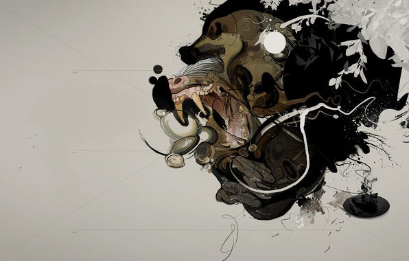 Picture treatment, minimalism, Monkey