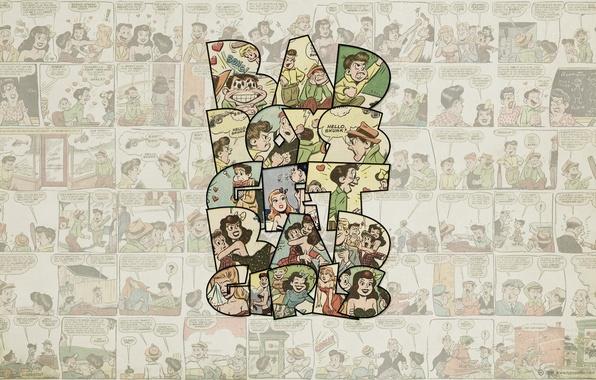 Picture cartoon, bad boy, bad girl