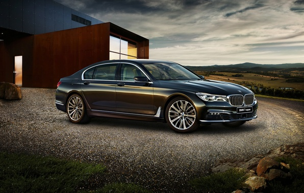 Photo wallpaper BMW, BMW, sedan, 7-Series, G12