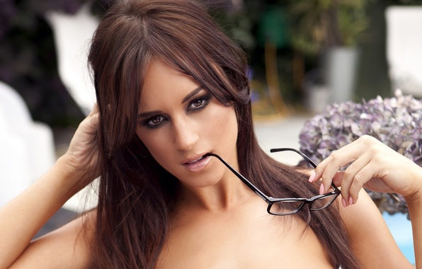 Picture look, girl, face, sexy, background, model, hair, glasses, sexy, beauty, Rosie Jones, Rosie Jones