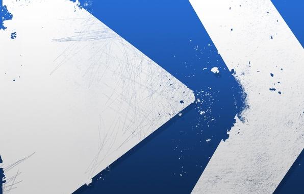 Picture blue, paint, arrow