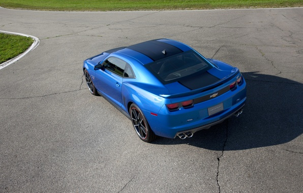 Picture Auto, Blue, Chevrolet, Machine, Asphalt, Day, Chevrolet, Camaro