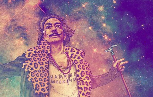 Picture mustache, look, face, figure, artist, cane, Salvador Dali