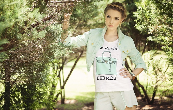 Picture summer, girl, garden